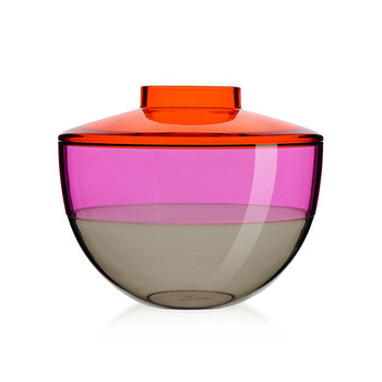 Shibuya Vase - Orange/Violet/Smoke