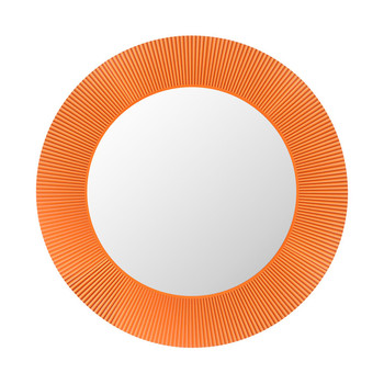 All Saints Round Mirror - Tangerine