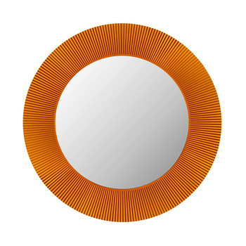 All Saints Round Mirror - Amber