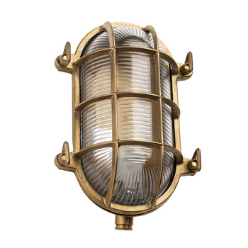Oval Bulkhead Light - Brass