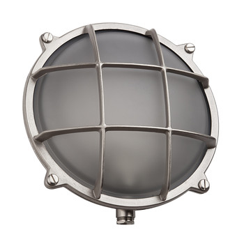Round Bulkhead Light - Nickel