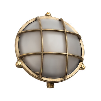Round Bulkhead Light - Brass