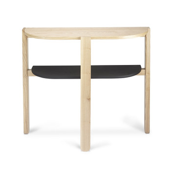 Hub Console Table - Black/Natural