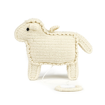 Crochet Lamb Music Box - Nature