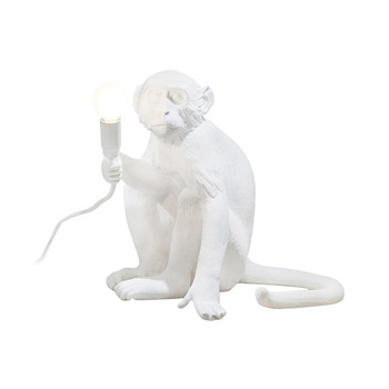 Monkey Lamp - Sitting - White