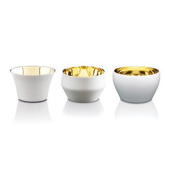 Kin Tealight Holders - Set of 3 - White