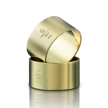 Napkin Rings - Gold-Plated Brass - Set of 2
