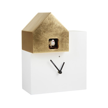 Ettore Cucù Clock - White/Gold