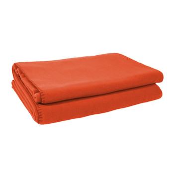 Soft Fleece Blanket - Papaya
