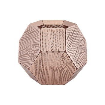 Etch Wood Effect Tealight Holder - Copper
