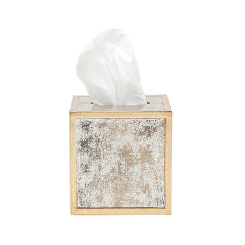 Atwater Tissue Box - Antiqued Gold