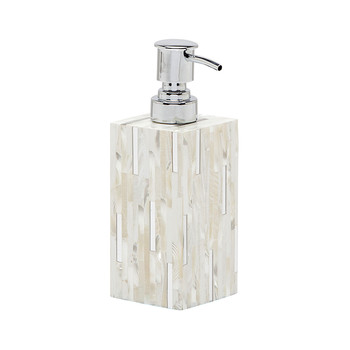 Cortona Soap Pump - Silver Mix