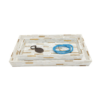 Cortona Tray Set - Brass Mix