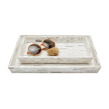 Cortona Tray Set - Silver Mix