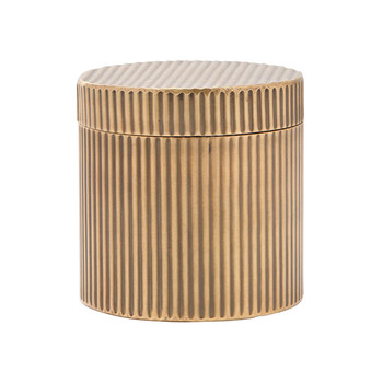 Redon Round Canister - Antique Brass