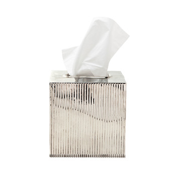 Redon Tissue Box - Shiny Nickel