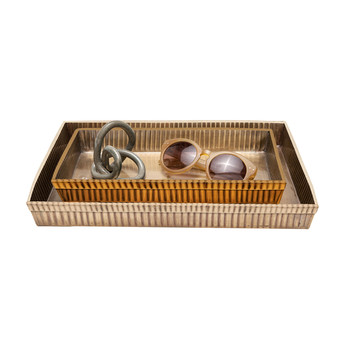 Redon Tray Set - Antique Brass