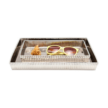 Ensemble assiette Redon - Nickel brillant