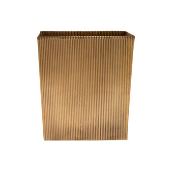 Redon Rectangular Waste Bin - Antique Brass