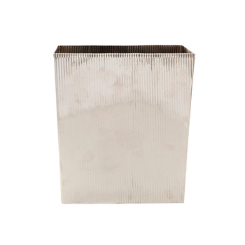 Redon Rectangular Waste Bin - Shiny Nickel