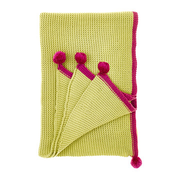 Cotswold Throw - Chartreuse