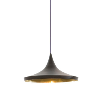 Beat Pendant Light - Wide - Black