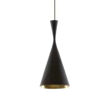 Beat Pendant Light - Tall - Black