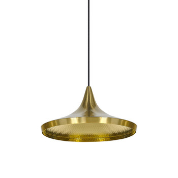 Beat Pendant Light - Wide - Brushed