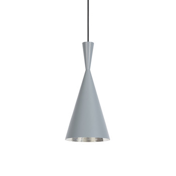 Beat Pendant Light - Tall - Grey/Silver