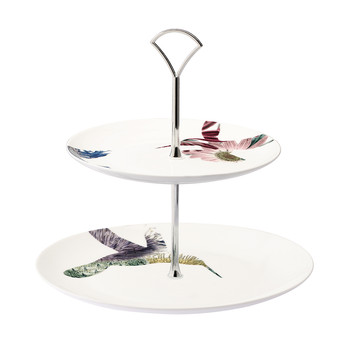 Flutter Two-Tier Cake Stand