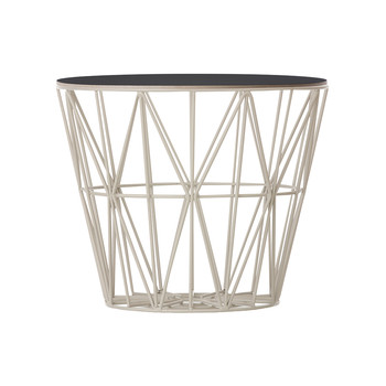 Medium Wire Basket - Grey with Black Lid