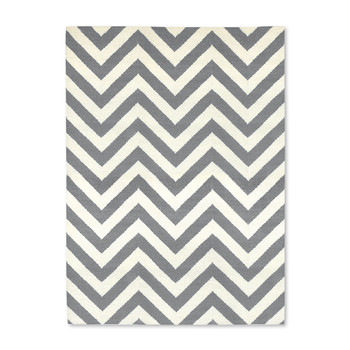 Herringbone Rug - Grey / Natural - 4'x6'