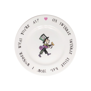 Mad Hatter Tea Plate
