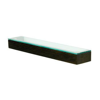 Slimline Glass Shelf - Dark Oak