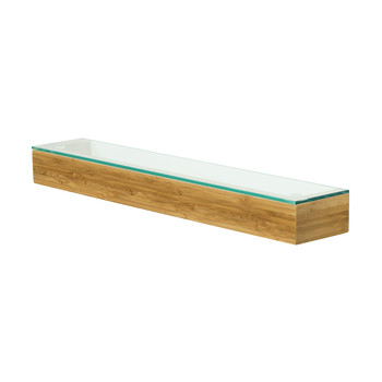 Slimline Glass Shelf - Arena Bamboo