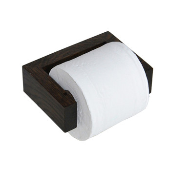 Wall Toilet Roll Holder - Dark Oak