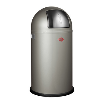 Pushboy Bin - 50L - New Silver