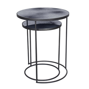 Nesting Side Table Set - Charcoal