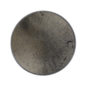 Large Round Aged Mirror - Heavy Bronze