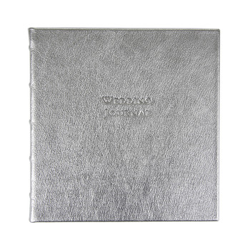 Leather Wedding Book - Silver