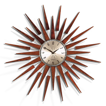 the pluto starburst wall clock large