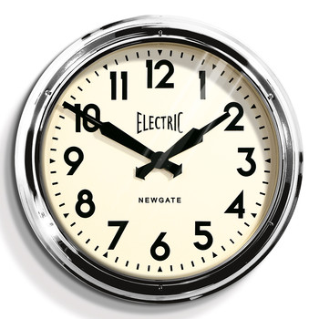 The Large Electric Wall Clock - Chrome