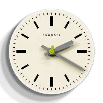 The Time Pill II Wall Clock - Pebble White