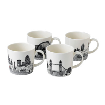 London Calling Mugs - Set of 4