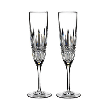 Lismore Diamond Toasting Flutes - Set of 2