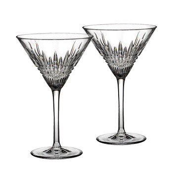 Lismore Diamond Martini Glasses - Set of 2