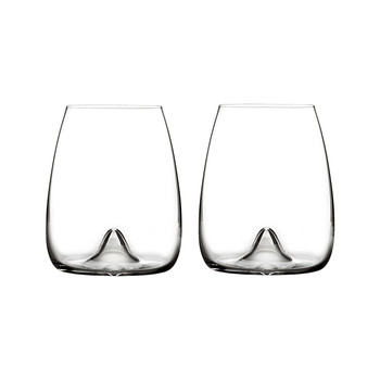 Elegance Stemless Wine Glasses - Set of 2
