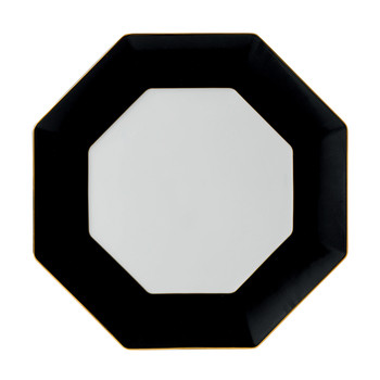 Arris Octagonal Charger Plate - Charcoal - 33cm