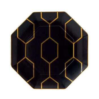 Arris Octagonal Side Plate - 23cm - Charcoal