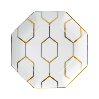 Arris Octagonal Side Plate - 23cm - White